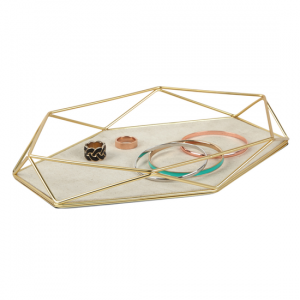 Matte Brass Jewelry Tray