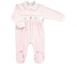 Peter Rabbit Smocked Baby Footsie